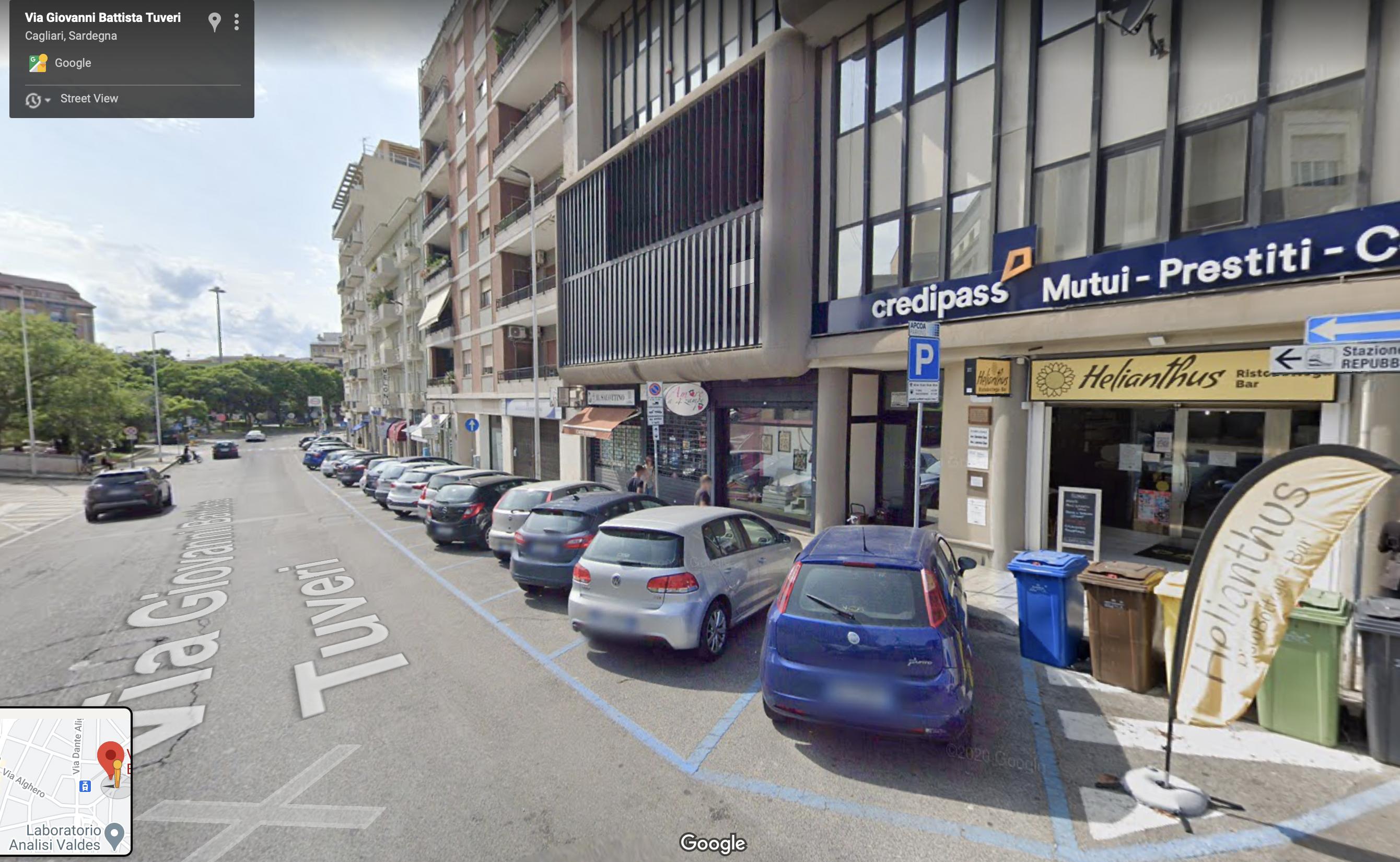 Posto Auto Coperto in via Tuveri a Cagliari – Fronte Tribunale